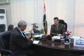 لقاء مع الامين العام للمكتبة المركزية في جامعة بغداد